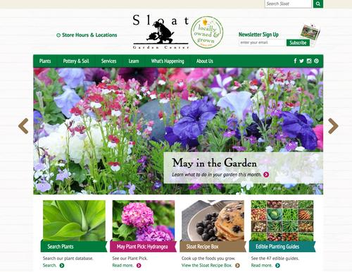 SloatGardens.com was developed by their marketing firm. They added the 'Plants' navigation item to link to our functionality.