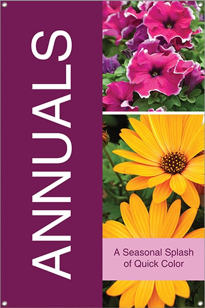 Annuals 24 Quot X36 Quot Single Sided Vinyl Banner