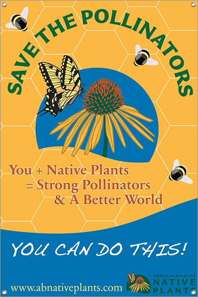 Save The Pollinators 24x36 Double Sided Vinyl Banner