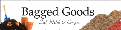 Bagged Goods 16' x 4' VINYL Single Sided banner
