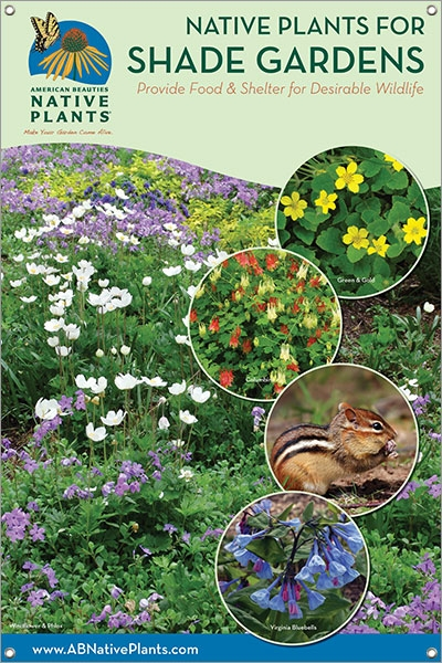 native plants for shade gardens e  great plains 24 u0026quot x36 u0026quot  vinyl double sided banner