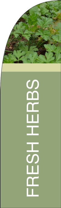 Fresh Herbs Feather Flag Single Sided-Bold