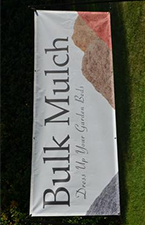 Bulk Mulch-8'x3' Single Sided Mesh Banner