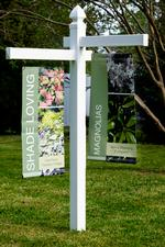 6' VINYL bannerSign Post w/2 arms