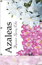 Azaleas-4'x3' Single Sided Mesh Banner
