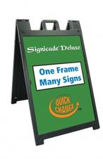 A-Frame (Plastic) Signicade® Deluxe - Black