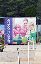 Spring Color-11.5'x9.5' Single Sided Mesh Banner