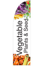 Vegetable Plants & Seed Feather Flag Single sided