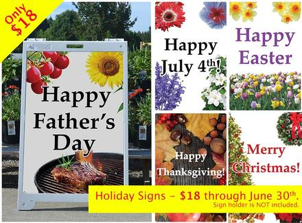 Holiday and Welcome Signs for Garden Centers