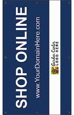 Shop Online 5' x 3' VINYL Single Sided Banner