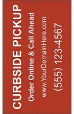 Curbside Pickup 5' x 3' VINYL Single Sided Banner